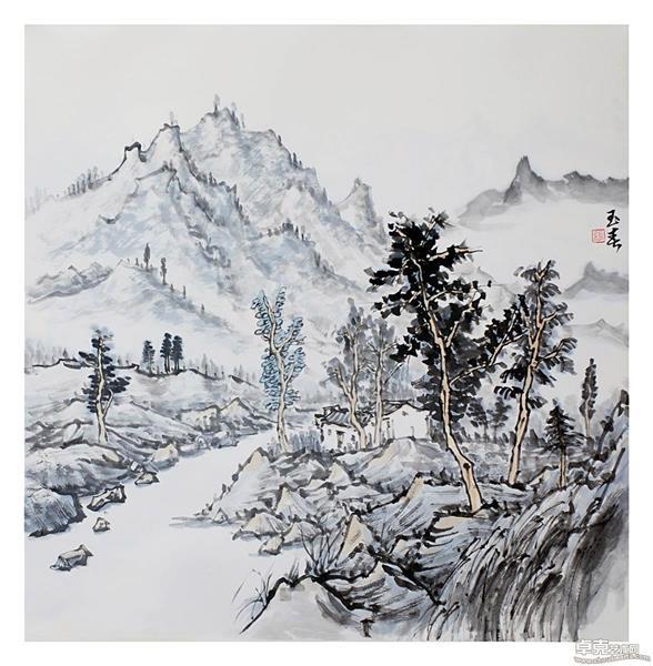 10《溪山幽谷》